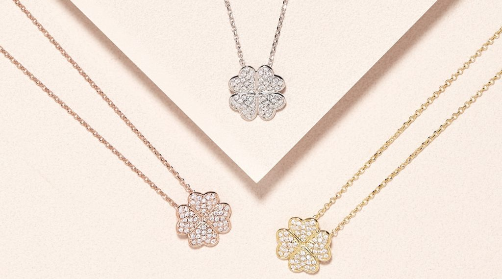 Charlie Brook Diamonqiue four leaft clover necklace all