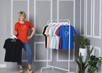 Ruth with clothes rail